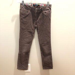Mini Boden Girls Size 9-10Y Brown Corduroy Pants